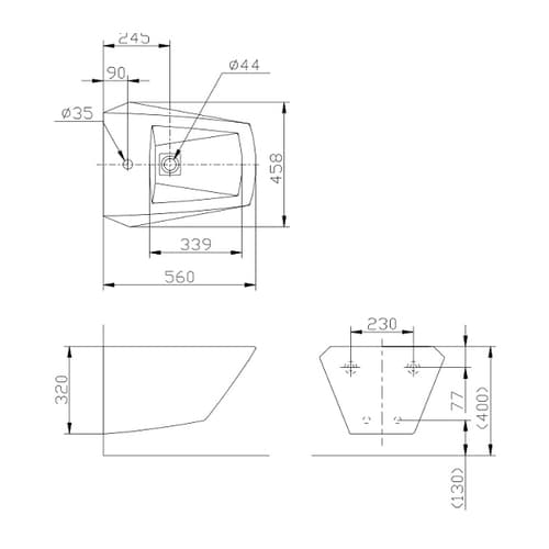 JEWELHEX Биде подвесное 1 отверстие для смесителя, размер размер 56х45.8, цвет белый