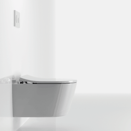 RP Унитаз подвесной выпуск в стену, для сиденья с плавным опусканием, цвет белый