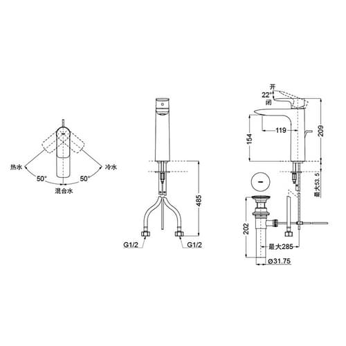 TOTO MH/NEOREST Смеситель для накладной раковины с донным клапаном, цвет: хром