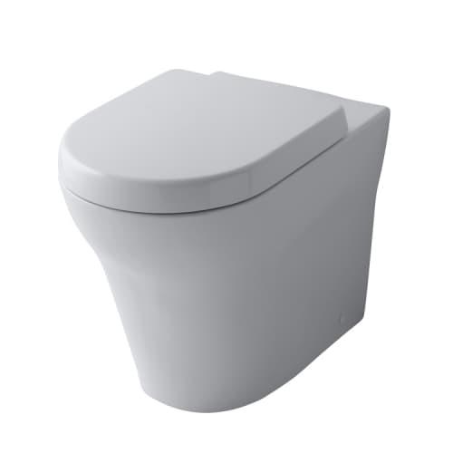 MH Сиденье для унитаза плавным закрыванием SoftClose и креплением из нержавеющей стали, размер 39.8х47.7х5.9Н, цвет белый