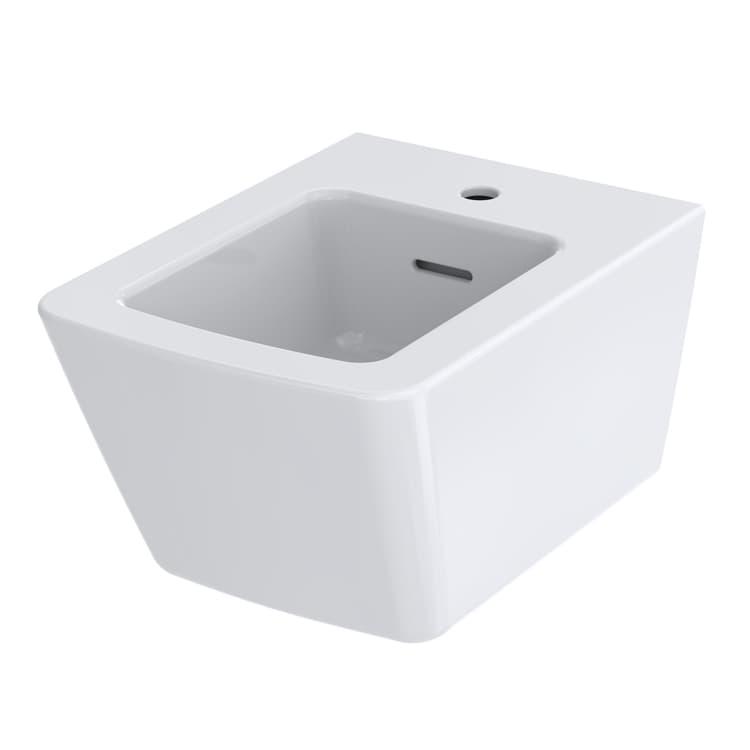 SP Биде подвесное с одним отверстием под смеситель, с переливом,  цвет белый