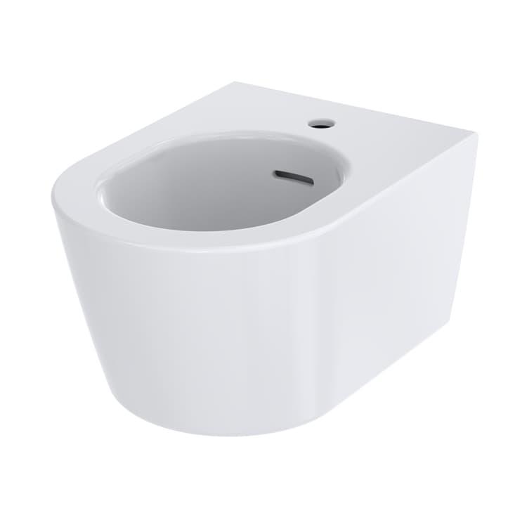 RP Биде подвесное с одним отверстием под смеситель, с переливом,  цвет белый