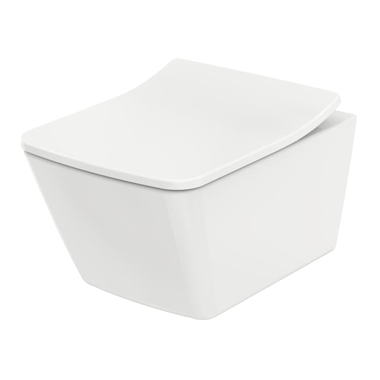 SP Унитаз подвесной выпуск в стену, для сиденья с плавным опусканием, цвет белый