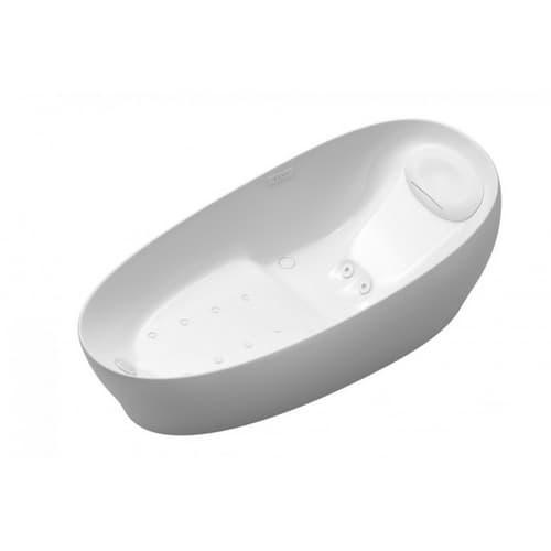 Ванна отдельностоящая с гидромассажем,223*108*80, белая из композитного материала