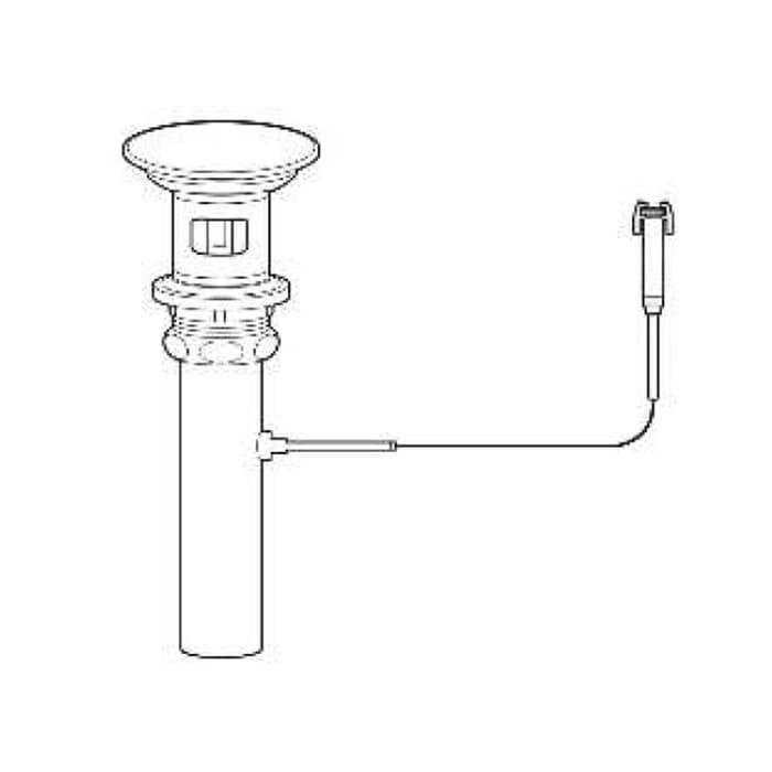 Сливной клапан с керамической ркышкой,  управляется смесителем