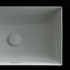 NEOREST Раковина полувстраиваемая без отверстия под смеситель, c переливом, размер 600x380x137, цвет белый