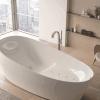 Напольный смеситель для ванны, в комлекте с душевой лейкой, хром